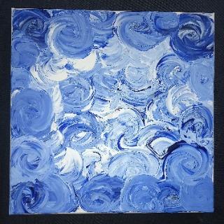 Tableau peinture acrylique zen
