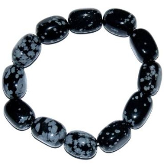 Bracelet obsidienne neige