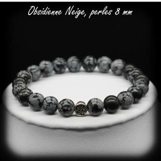 Bracelet obsidienne neige peti