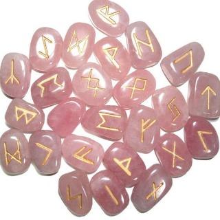 Rune en quartz rose